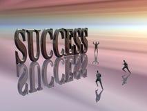 Concurreren, die voor succes loopt. royalty-vrije illustratie