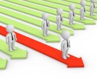 Concurrerend voordeel Stock Foto