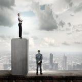 Concurrerende zaken Stock Foto's