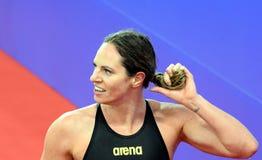 Concurrerende zwemmer SEEBOHM Emily AUS Stock Foto's