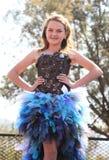 Concurso de belleza adolescente de la muchacha en el festival Suráfrica Fotografía de archivo