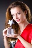 Concurso de belleza que gana de la mujer Imágenes de archivo libres de regalías