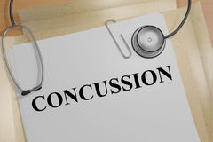 Concussion - medical concept stock illustration
