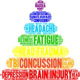 Concussion Word Cloud Stock Photography