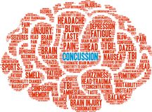 Concussion Word Cloud Stock Image