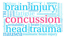 Concussion Word Cloud Stock Photos
