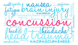Concussion Word Cloud Royalty Free Stock Images