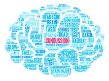 Concussion Word Cloud Stock Photo