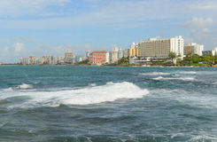 Condado地平线,圣胡安,波多黎各 库存照片