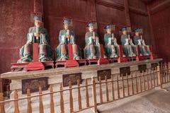 Condado de Fushun Fushun, provincia de Sichuan, estatua del filósofo del pasillo doce de la adoración del templo de Dacheng Fotografía de archivo libre de regalías