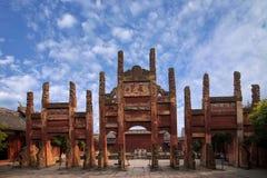 Condado de Fushun Fushun, provincia de Sichuan, Ling Xing Gate Temple foto de archivo libre de regalías