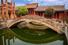 Condado de Fushun Fushun, provincia de Sichuan, Ling Xing Gate Temple fotos de archivo libres de regalías