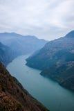 Condado de Wenshan, Chongqing Wenfeng Forest Park que negligencia o desfiladeiro do Rio Yangtzé Three Gorges Wu Foto de Stock Royalty Free