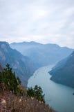 Condado de Wenshan, Chongqing Wenfeng Forest Park que negligencia o desfiladeiro do Rio Yangtzé Three Gorges Wu Fotografia de Stock Royalty Free