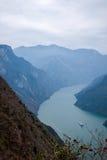 Condado de Wenshan, Chongqing Wenfeng Forest Park que negligencia o desfiladeiro do Rio Yangtzé Three Gorges Wu Imagem de Stock