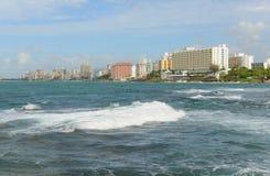 Condado horisont, San Juan, Puerto Rico Arkivfoto