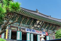 Condado principal do templo de Haedong Yonggungsa em Busan, Coreia do Sul imagem de stock royalty free