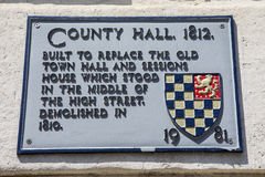 Condado salão em Lewes Fotografia de Stock Royalty Free
