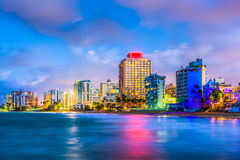 Condado strand Puerto Rico Royaltyfri Bild