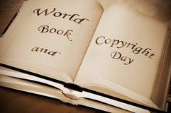 Jour de livre et de copyright du monde Image libre de droits