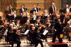 Orquestra sinfónica Fotografia de Stock