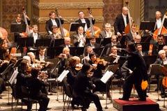 Orquesta sinfónica Fotografía de archivo