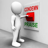 Condemn Praise Switch Means Appreciate Royalty Free Stock Photo