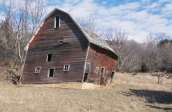 Condemned Barn stock image