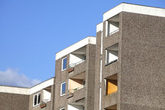 Condemned Block of Flats. For Demolition Stock Photo