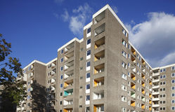 Condemned Block of Flats. For Demolition Stock Photography