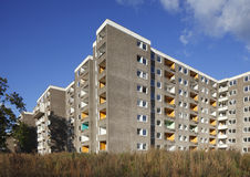 Condemned Block of Flats. For Demolition Royalty Free Stock Image