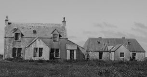 Condemned croft isle of tiree. Ruin on the isle of tiree royalty free stock image