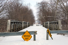 Condemned Triple Pony Truss Bridge Stock Photos