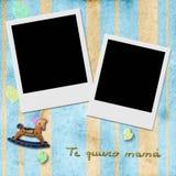 Condene a la mamá del quiero del te, ámele mamá en español, dos instante pH Imagen de archivo libre de regalías
