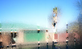 Condensação da janela Fotos de Stock