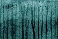 A condensação deixa cair a textura no tom ciano foto de stock