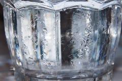 Condensación del agua sobre el vidrio fotos de archivo libres de regalías