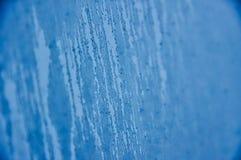 Condensación helada azul Fotos de archivo