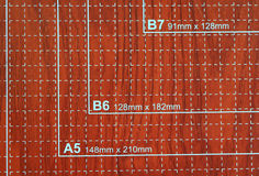 Condensador de ajuste de papel usado para scrapbooking Imagen de archivo libre de regalías