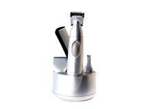 condensador de ajuste para afeitar aislada en el fondo blanco Imágenes de archivo libres de regalías