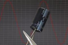 Condensador electrónico Fotos de archivo libres de regalías