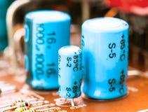 Condensadores Foto de archivo