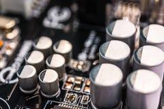 Condensadores del ordenador Imagenes de archivo