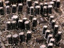 Condensadores en el PWB Foto de archivo libre de regalías