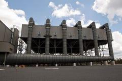 Condensateur d'air de centrale électrique Images libres de droits