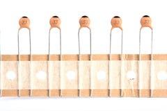 condensateurs en céramique Photos libres de droits