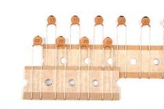 condensateurs en céramique Photographie stock libre de droits