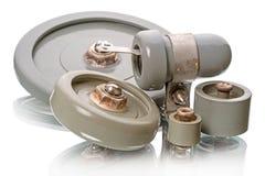 Condensateurs pour l'émetteur de haute puissance Images libres de droits