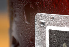Condensation on bottle Stock Image