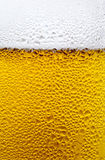 Condensation Drops on a Glass of Cold Beer Royalty Free Stock Images